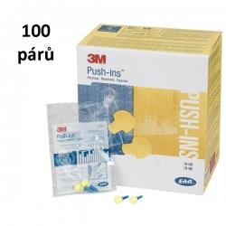 Chrániče sluchu 3M E-A-R Push-Ins -38 dB 100 párů