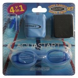 AQUASTART SET dětské plavecké brýle, čepice, zátky