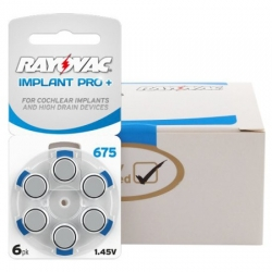 60 ks baterie Rayovac 675 Implant Pro+