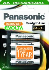 Panasonic Ready to Use EVOLTA AA 2450 HHR-3XXE/4BC