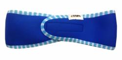 Neoprenová čelenka 43DOM DOSPĚLÝ 50-60cm blue+pruh