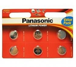 Lithiové knoflíkové baterie Panasonic CR 2032 1ks
