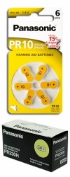 10 x baterie do sluchadel Panasonic PR230(10)/6LB