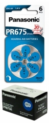 10 x baterie do sluchadel Panasonic PR675(44H)/6LB