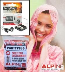1 pár Alpine PartyPlug Transparent + pláštěnka