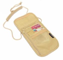 Bezpečnostní kapsa na doklady a cestovní peněženka