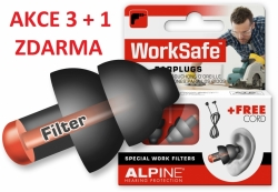 Chrániče sluchu Alpine WorkSafe SNR 23 dB 3+1 pár