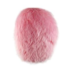 Klapky na uši vel. M Earbags z růžové kožešiny