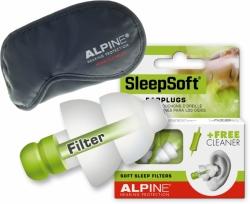 1 pár špunty na spaní Alpine SleepSoft+MASKA