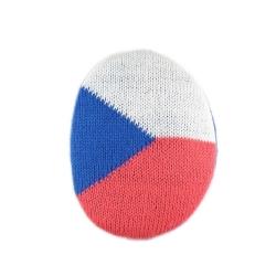 Samodržící klapky na uši vel. M Earbags vlajka ČR