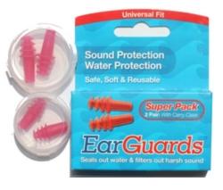 Zátky EarGuards proti vodě i hluku -20 dB 2 páry