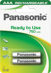 Panasonic Ready to Use EVOLTA AAA 750 HHR-4MVE/2BC