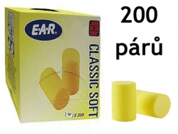 Ušní zátky EAR Classic Soft SNR 36 dB 200 párů