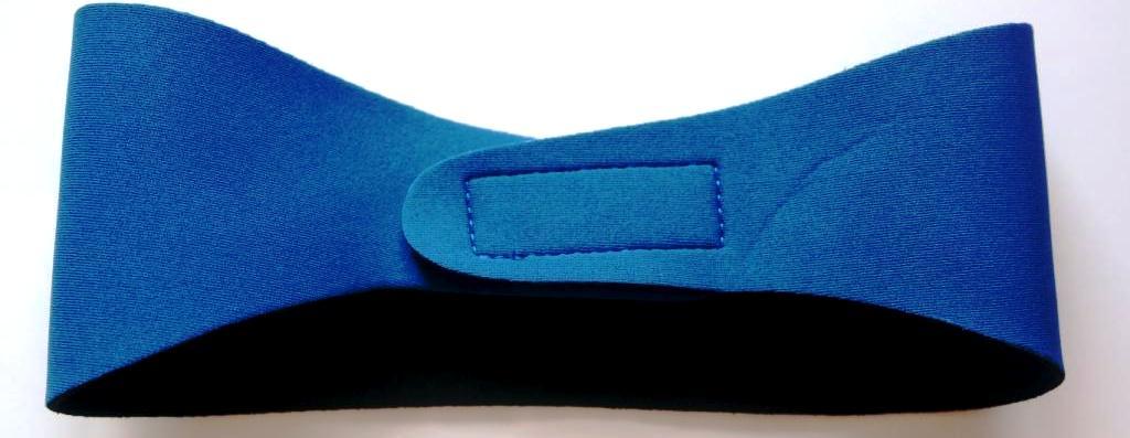 Neoprenová čelenka pro plavce modrá - velikost junior 03697d5e0e