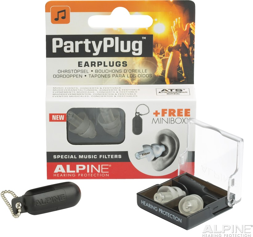 Alpine PartyPlug Transparent špunty do uší na koncerty a festivaly
